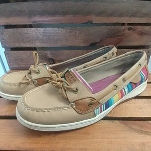 Sperry Top Sider Rainbow Boat Shoes Womens Size 11